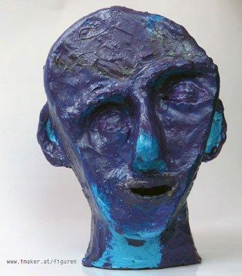 Figur 22: Kopf aus Ton