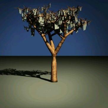 Ein Baum im Frühling