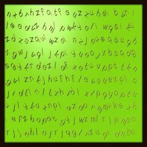 Plastischer Text und Ziffern – Text zum nicht lesen II